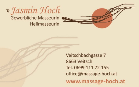 Massage - Jasmin Hoch | Veitsch / St. Barbara