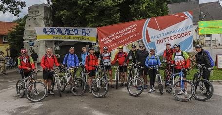 Naturfreundetag 2014 in der Veitsch - Abfahrt der Radfahrer