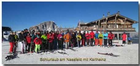 Schiulaub 2017 am  Nassfeld mit Karlheinz und weiteren 44 Personen